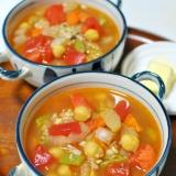 ひよこ豆と野菜がたっぷり♪食べる三十雑穀スープ