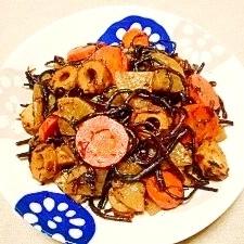 【中華ごま】ヒジキと根菜の旨煮