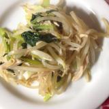 野菜炒め(サラダチキンを使って)