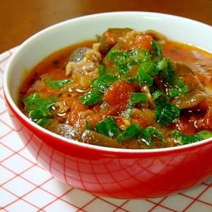 茄子と牛肉のとろとろトマト煮込み