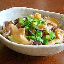 茄子と椎茸と油揚げの味噌煮