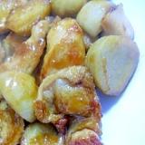 里芋と鶏胸肉の照り焼き