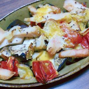 夏野菜と鶏ハムのグリル