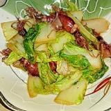 ホタルイカと白菜の生姜炒め