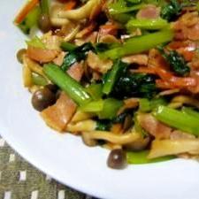 小松菜のあっさり炒め