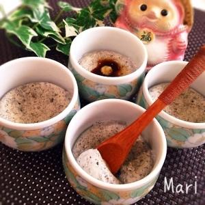 レンジ1分&材料③❤︎体に優しい黒ごま豆腐