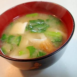 小松菜と竹輪と豆腐の美的お味噌汁