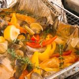 BBQでおしゃれ料理♫白身魚のアクアパッツァ