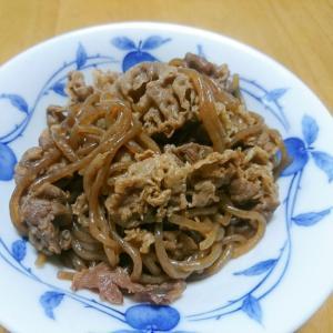 牛肉と糸こんにゃくの炒め物