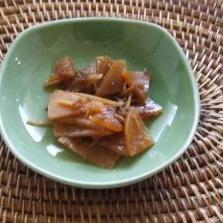 皮まで使えるエコ料理、大根の佃煮