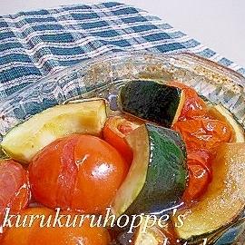トマトとズッキーニのしょうゆオイル焼