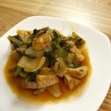 子供も食べやすい豚肉と小松菜炒め煮