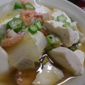 えびとくずし豆腐の煮物