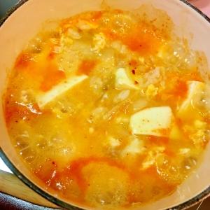 簡単★豆腐入りキムチ雑炊