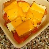トマトと厚揚げのチーズ焼き