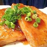冷凍豆腐で・・・冷凍豆腐の照り焼きステーキ♪