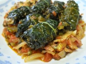 黒キャベツ(カーボロネロ)の豚バラトマト煮込み♪