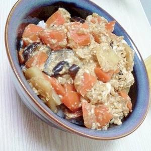 余り物野菜で簡単美味しい!マーボー野菜卵丼