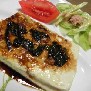 簡単★豆腐のマヨシソしょう油ステーキ