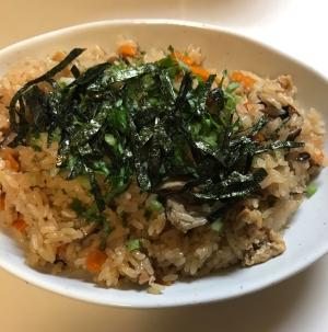 もち米入りでも普通に炊ける!鶏ごぼうの炊き込みご飯