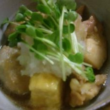 寒い夜に ほっこり。里芋と豆腐の揚げ煮治部煮風