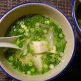 豆腐と大根のタイ風スープ