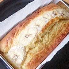 HMで簡単!材料3つのバナナケーキ