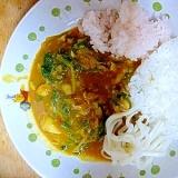 生タラと水菜のシーフードカリー