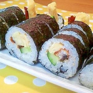 鰻&きゅうり&卵の巻き寿司