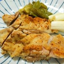 鮭のマスタード焼き