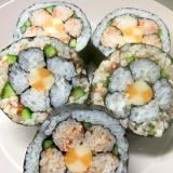 初めての飾り寿司〜梅の花 オレンジ〜鮭とチーズで
