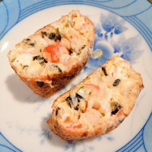 カニカマ&海苔&キャベツの卵焼き