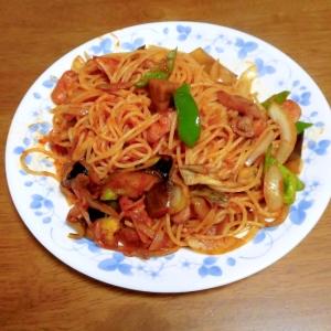 トマトソースで作る野菜たっぷりパスタ