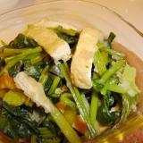 カルシウムたっぷり♪小松菜と油揚げのみぞれ煮