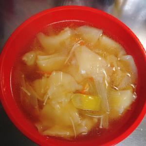 冷凍常備菜でワンタンスープ