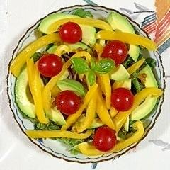 アイスプラントとパプリカのサラダ