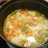 かぶとにんじんの野菜スープ