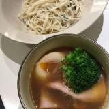 揖保乃糸を中華風のつけ麺で