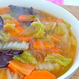 ご飯がすすむ〜☆白菜と春雨のピリ辛煮