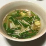 えのき小松菜白菜味噌汁