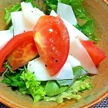 かぶとトマトのゆずドレッシングサラダ