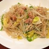 鶏塩麹漬けの野菜炒め