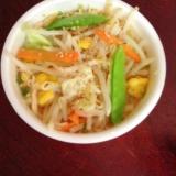 野菜たっぷり☆チキンラーメンでタンメン風!