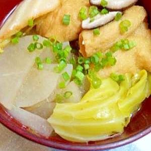 温まるぅ大根とお揚げのキムチ煮