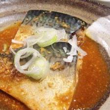 生姜がマッチ、鯖の味噌煮