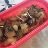 さわらとたまねぎの中華炒めどん。