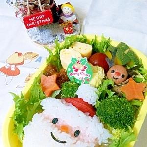 簡単キャラ弁☆クリスマス サンタのお弁当♪