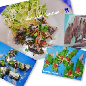 【鰯】海釣り イワシの梅シソ生姜巻き