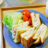 胡瓜とツナのサンドイッチ