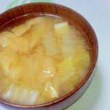 白菜と油揚げの味噌汁++